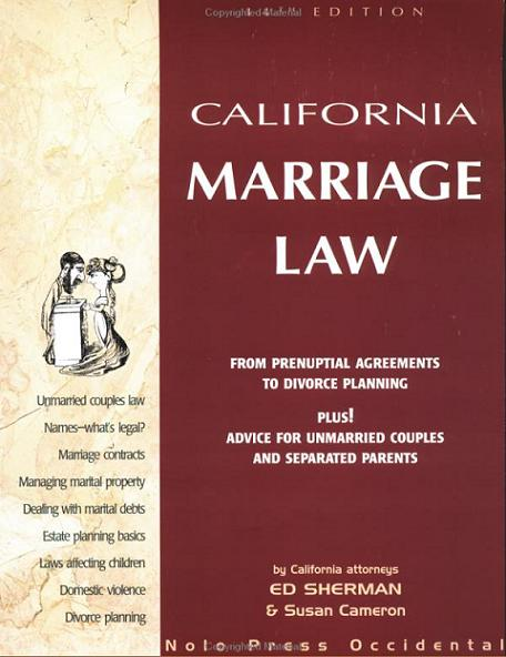 California Marriage Law